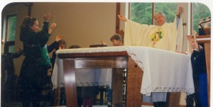 mass with children